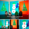 Make your own Christmas Cards: Snowman and Christmas Tree