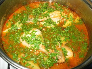 Potato and chicken  Stew-Tocanita de cartofi si pui