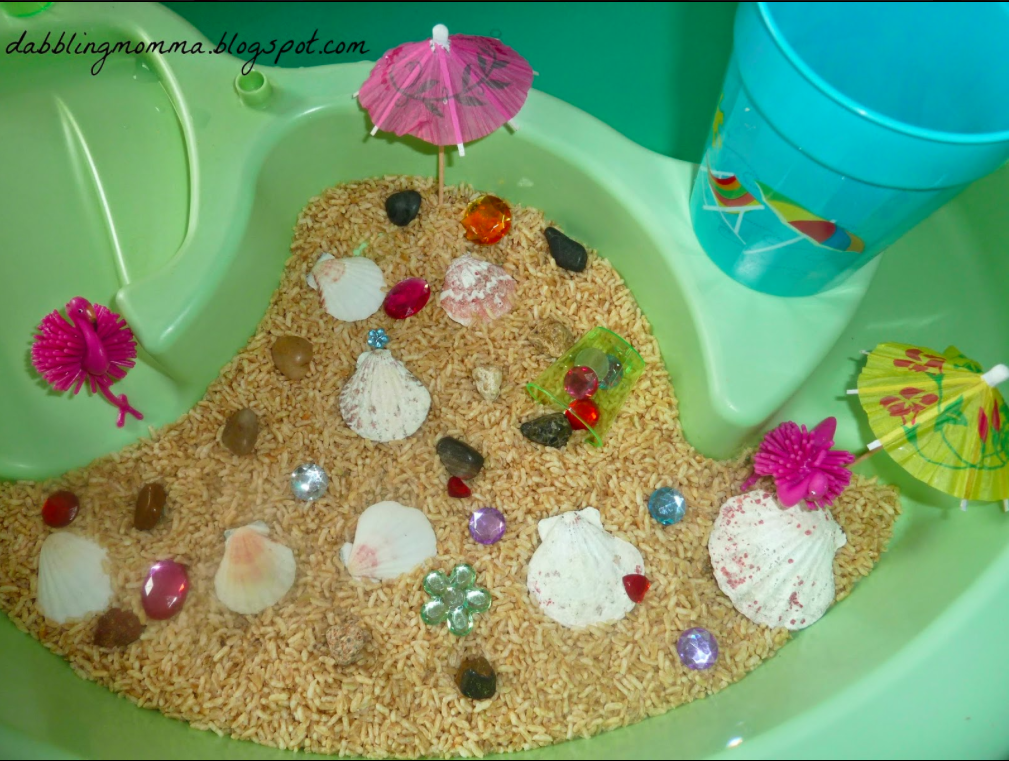 Beach Theme Sensory Table