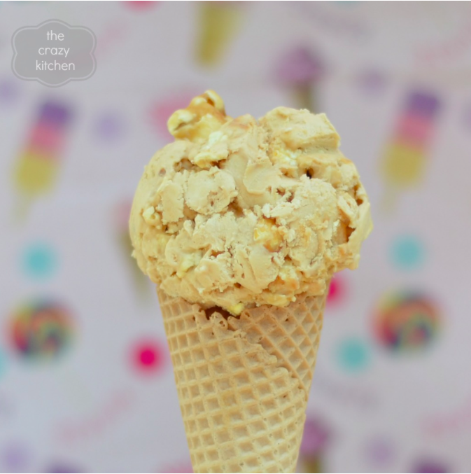 toffee popcorn ice cream #recipe