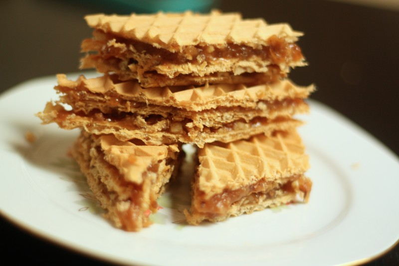 Wafers With Caramel And Nuts Romanian Mum Blog