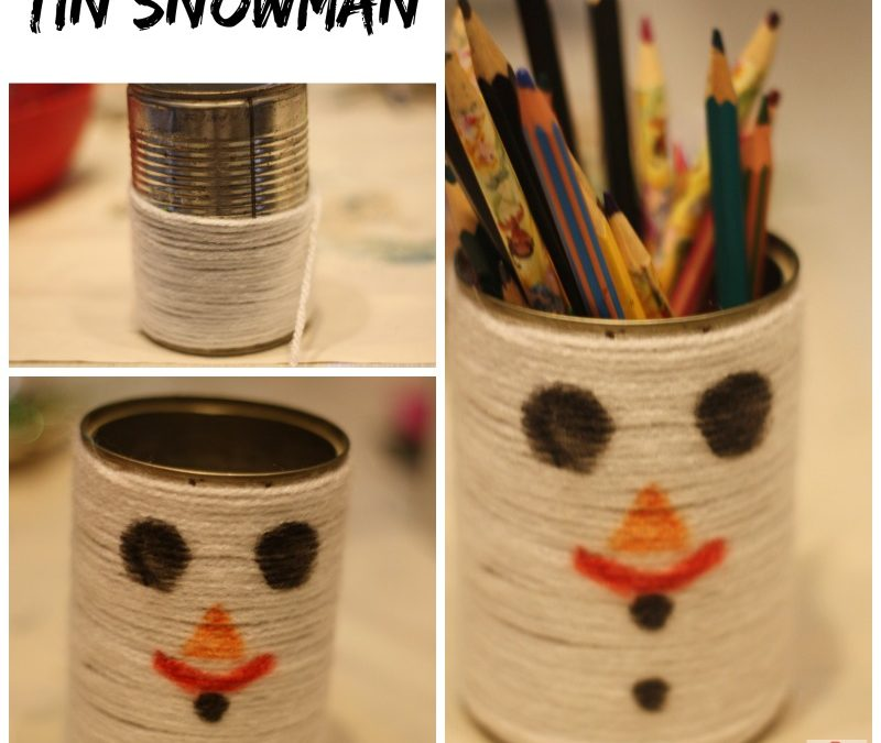 Tin Snowman Craft and 30 Christmas Ornaments