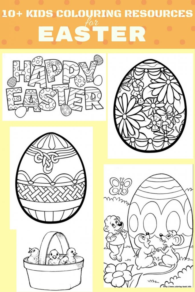 10+ FREE EASTER COLOURING RESOURCES FOR KIDS