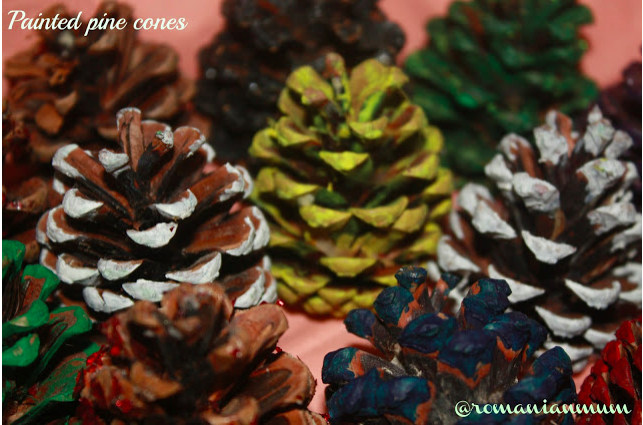 Painted Pine Cones #craft