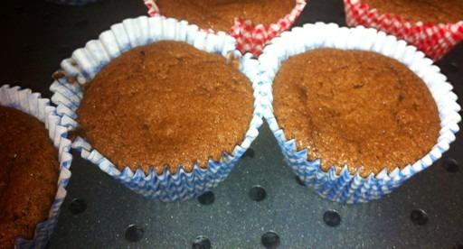 Warm molten-centred chocolate cupcakes
