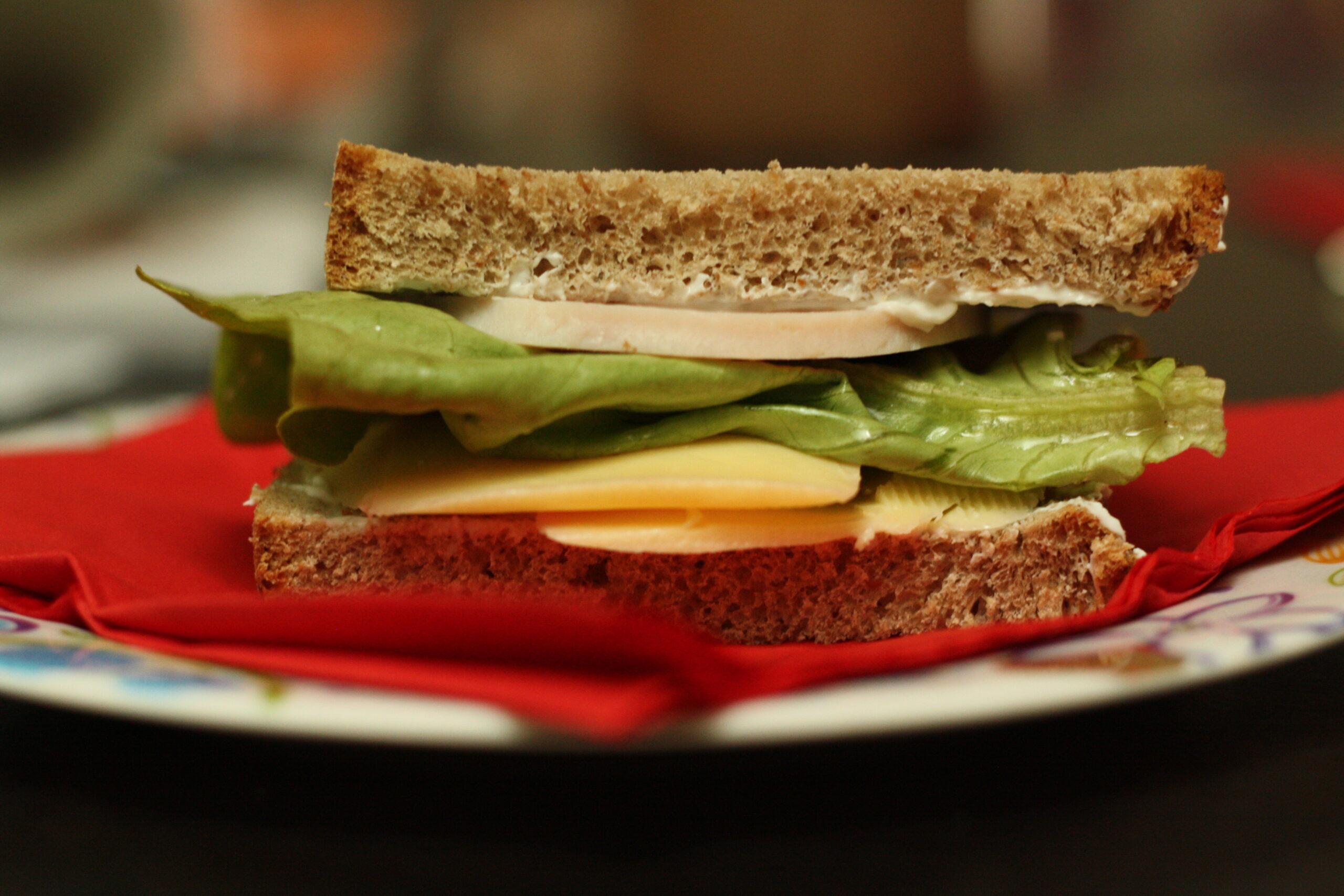 Simple Cheesy Ham #Sandwich