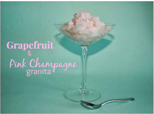 Grapefruit and Pink champagne granita #recipe