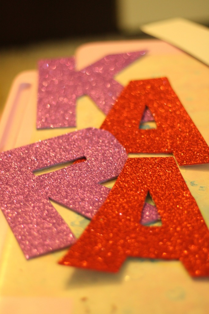 Simple name wall decoration