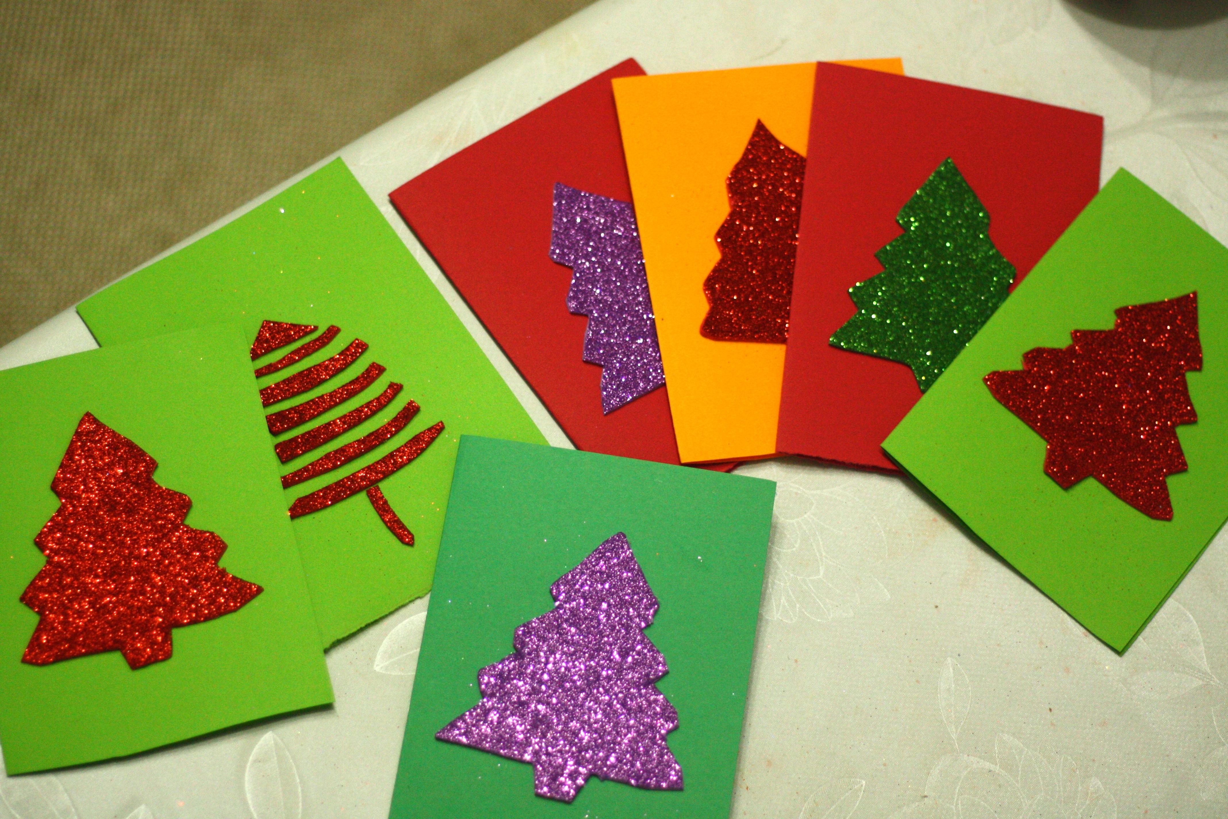 Christmas tree cards romanian mum blog christmas tree cards m4hsunfo