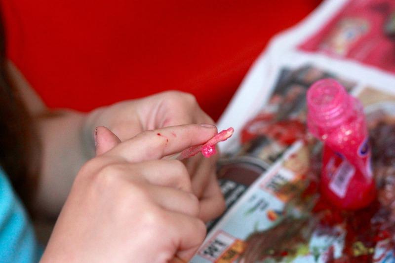 Glittery Glue Sensory Painting
