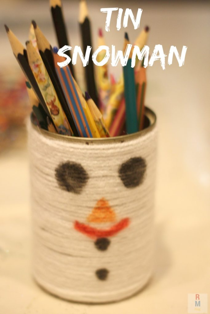 Tin Snowman Craft